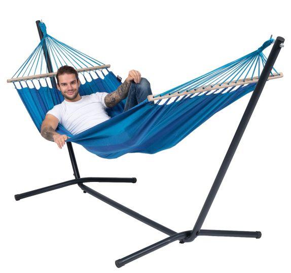 Hamaca con Soporte Individual Easy & Relax Blue