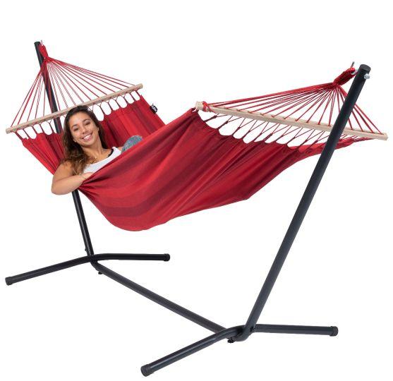 Hamaca con Soporte Individual Easy & Relax Red