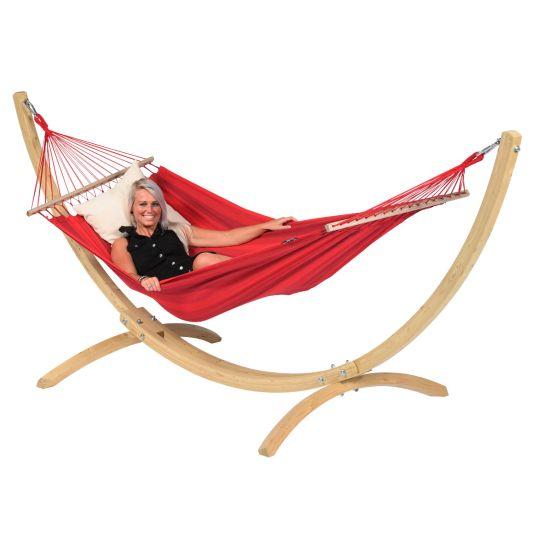 Hamaca con Soporte Individual Wood & Relax Red
