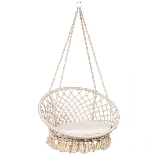 Hamaca-silla Individual Macramé White