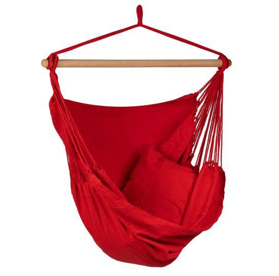 Hamaca-silla Individual Organic Red