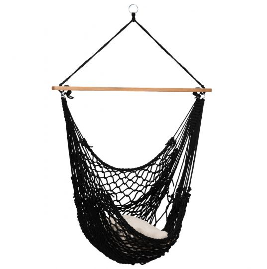 Hamaca-silla Individual Rope Black