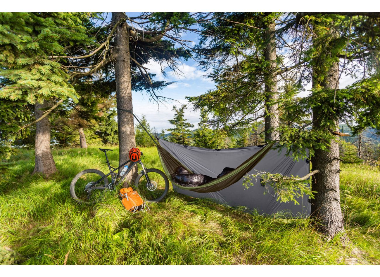 Hamaca Outdoor Doble Travel Army